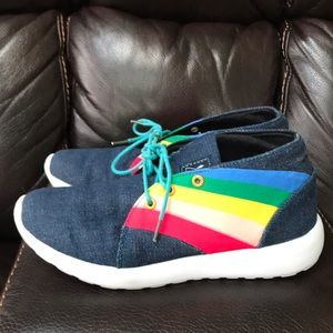 Shoes - Denim and rainbow sneakers